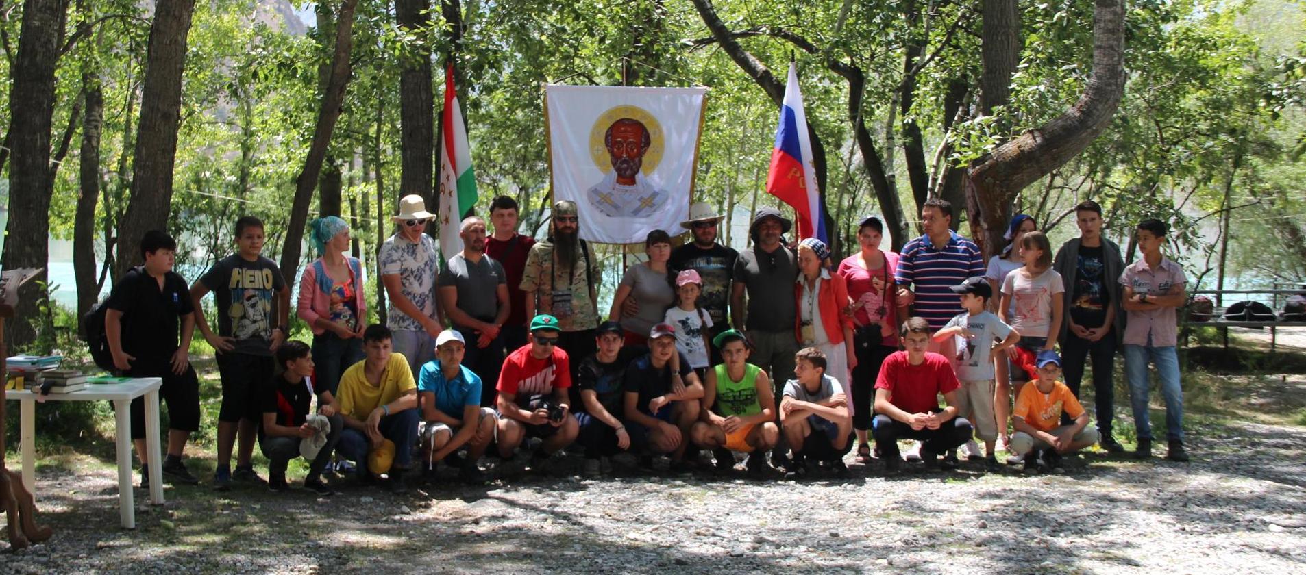 Первый православный молодежный форум, посвященный 1000-летию со дня преставления святого равноапостольного князя Владимира, на озере Искандеркуль