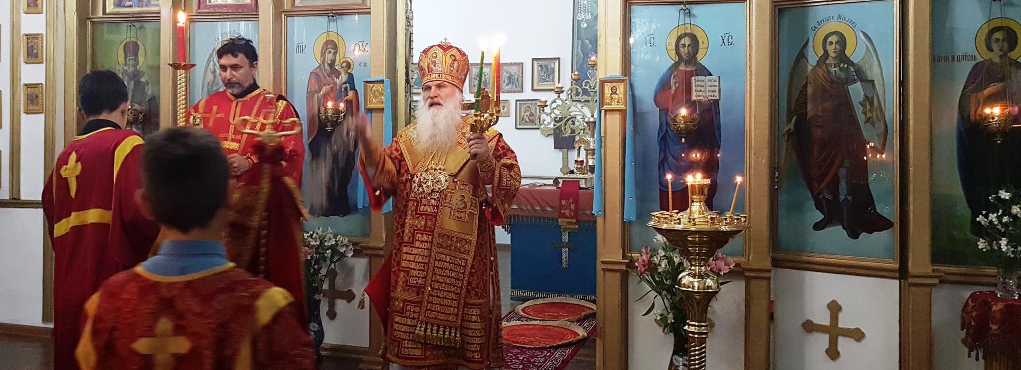 Митрополит Ташкентский и Узбекистанский Викентий совершил вечернее Богослужение в храме Покрова Божией Матери г. Турсун-заде.