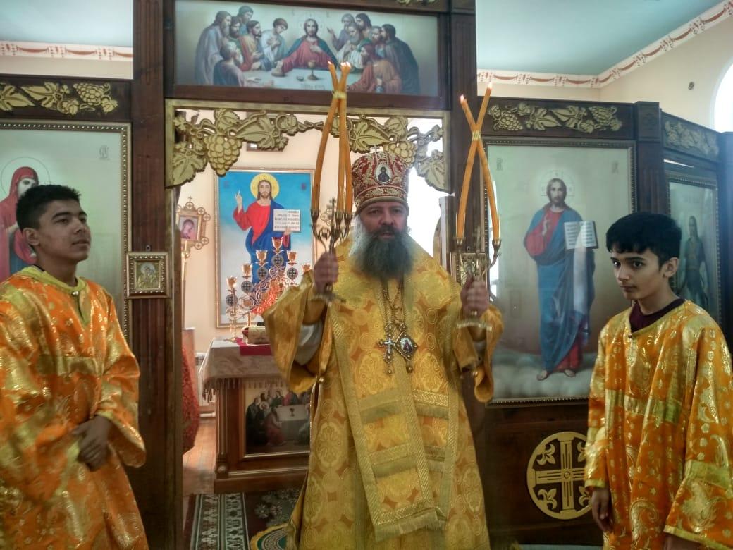 Епископ Питирим совершил Божественную литургию в храме равноапостольной Марии Магдалины