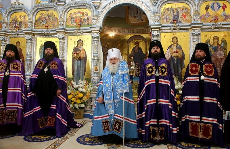 Епископ Павел принял участие во встречи чудотворной иконы Божией Матери Курско-Коренной «Знамение» в г. Ташкенте