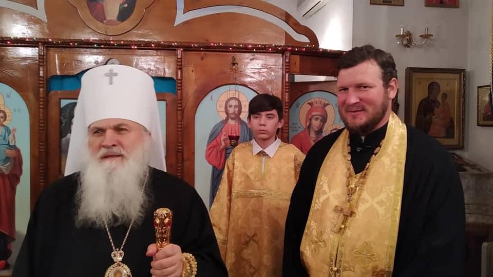 Митрополит Викентий возглавил всенощное бдение в Иверском храме 201-й Российской военной базы