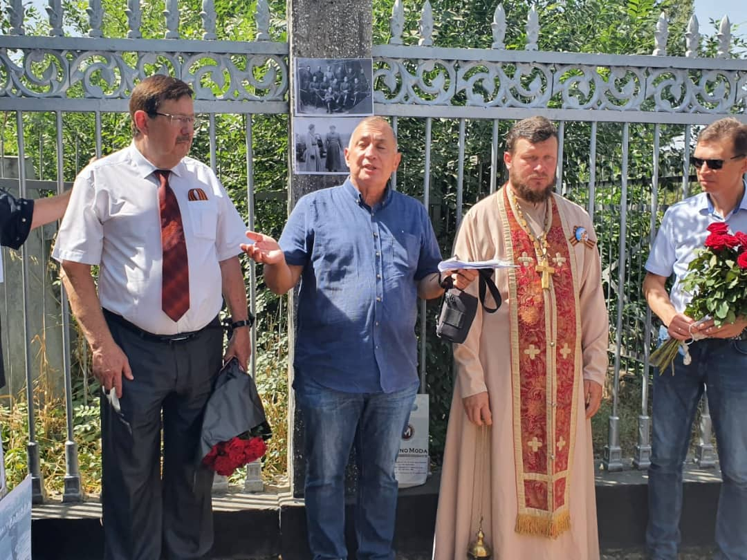 Митинг на православном кладбище г. Душанбе по случаю 120-летия со дня рождения генерал-лейтенанта А.Ф.Чудесова