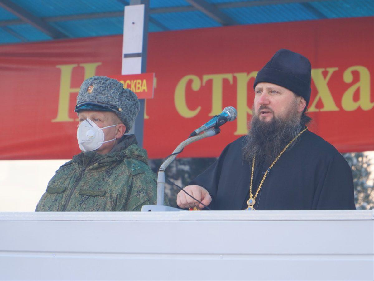 Епископ Павел посетил 201-й Российскую военную базу