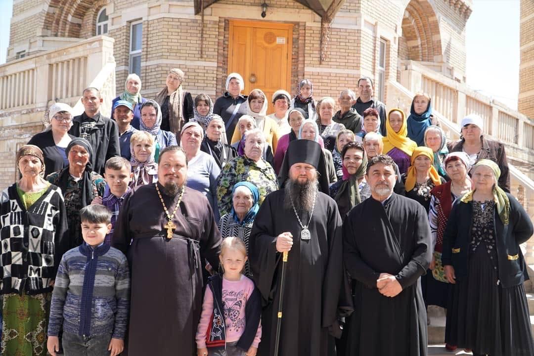 Епископ Павел совершил Божественную литургию в храме Архистратига Божия Михаила в г. Бохтар