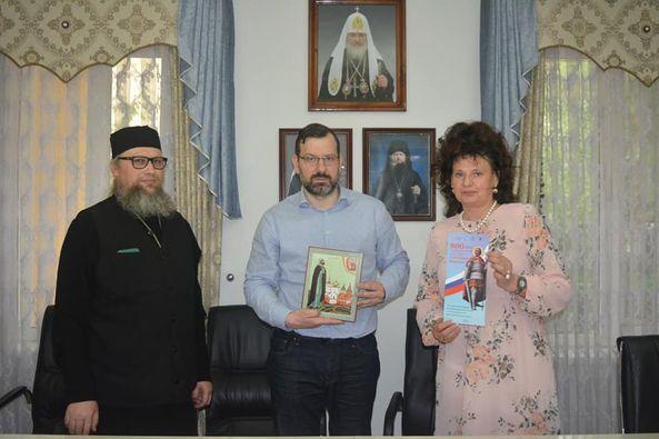 В епарxиальном управлении прошла встреча с секретарем Нижегородского отделения Императорского православного палестинского общества Колобовой С.