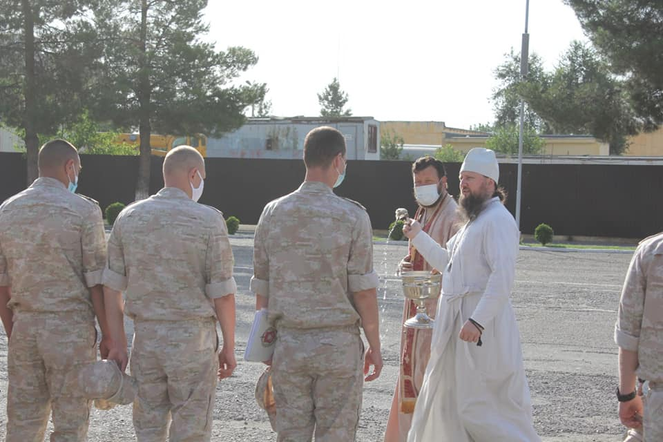 Епископ Павел посетил 201-ю Российскую военную базу
